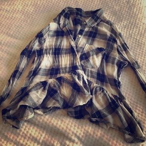 BP from Nordstrom button down plaid shirt size M